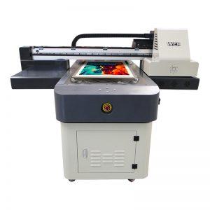 ขนาด a4 ดิจิตอลเครื่องการพิมพ์ยูวีพีวีซีผ้าใบผ้าพรมหนังเครื่องพิมพ์