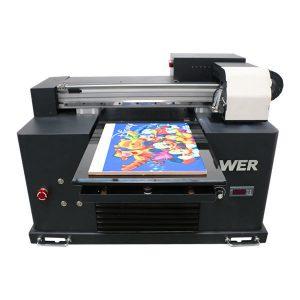 A2 ขนาด A3 สก์ท็อปขนาดเล็ก led uv เครื่องพิมพ์รถสำหรับการพิมพ์ตกแต่ง