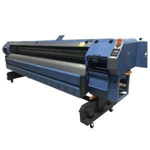 เครื่องพิมพ์ตัวทำละลายนิเวศ 10 ฟุตเครื่องการพิมพ์แบนเนอร์ดิ้น