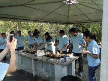 บาร์บีคิวใน Gucun Park ฤดูใบไม้ร่วงปี 2017